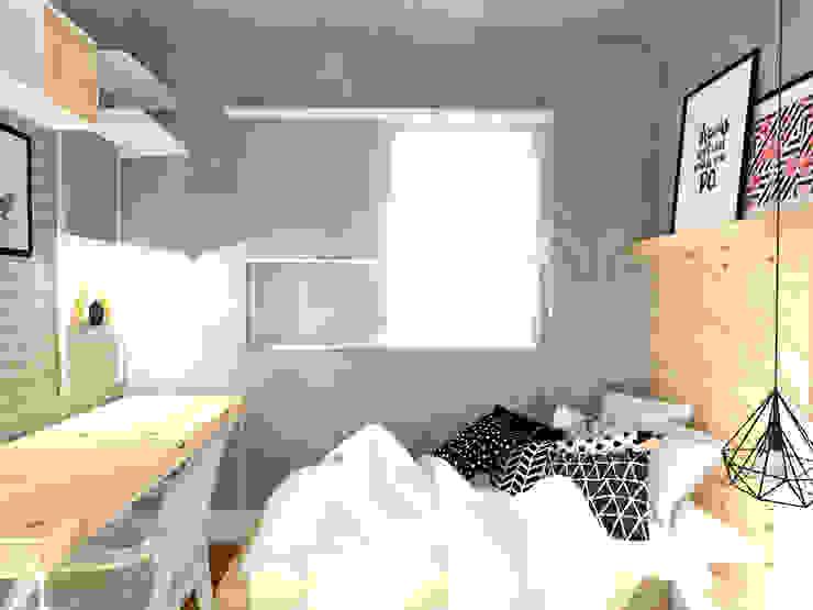 Scandinavian style bedroom by Andressa Cobucci Estúdio Scandinavian Concrete