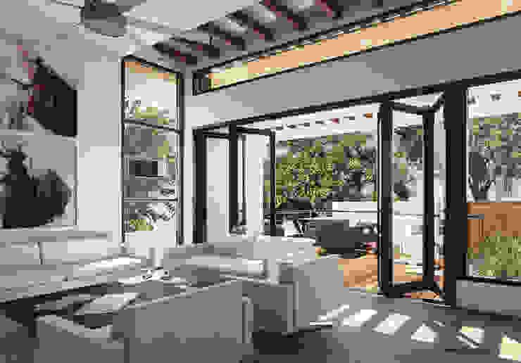 CASA IROTAMA Salas modernas de Cabas/Garzon Arquitectos Moderno