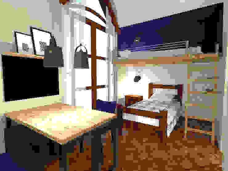 北欧デザインの 子供部屋 の Andressa Cobucci Estúdio 北欧 無垢材 多色