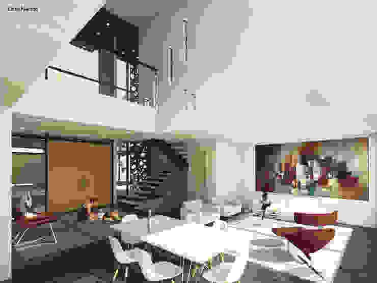 CASAS VILLA CAMPESTRE Comedores de estilo moderno de Cabas/Garzon Arquitectos Moderno