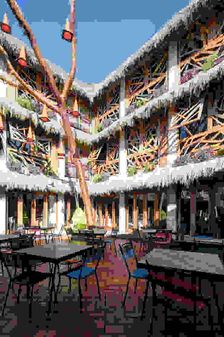 PLAZA PAPELILLO Balcones y terrazas tropicales de MORADA CUATRO Tropical
