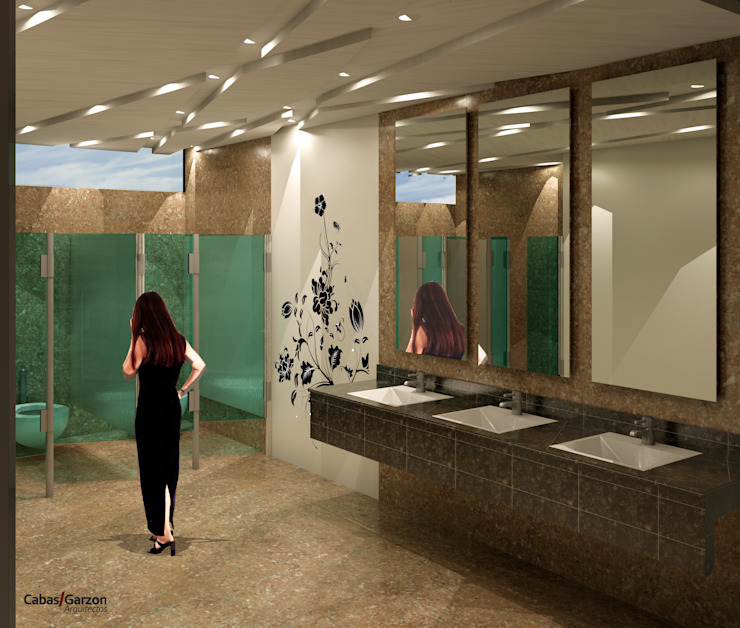 Modern bathroom by Cabas/Garzon Arquitectos Modern