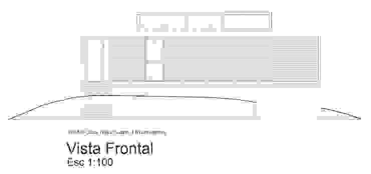 Fachada Sobre Calle de 1.61 Arquitectos Minimalista
