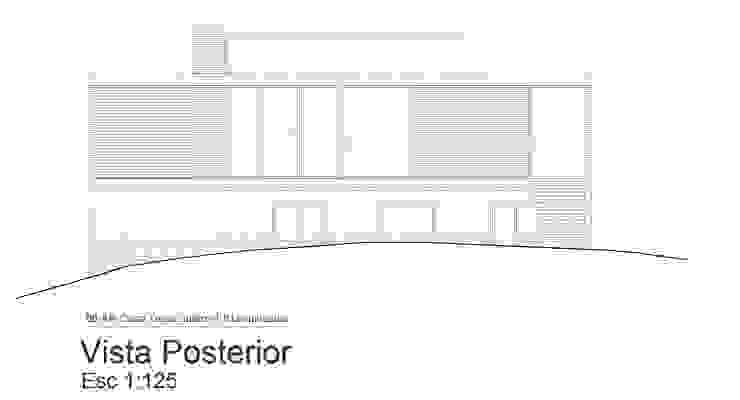 Fachada Posterior de 1.61 Arquitectos Minimalista