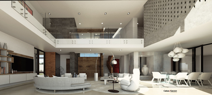 VIVIENDA CAUJARAL - N F & M A de Cabas/Garzon Arquitectos Moderno