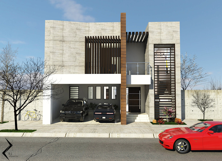 Houses by RJ Arquitectos, Modern