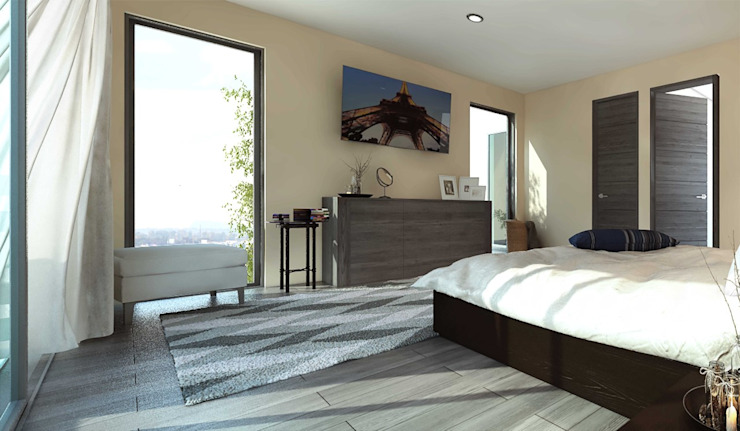 Residencia Guadalajara Jalisco Dormitorios modernos de Grupo La México Moderno