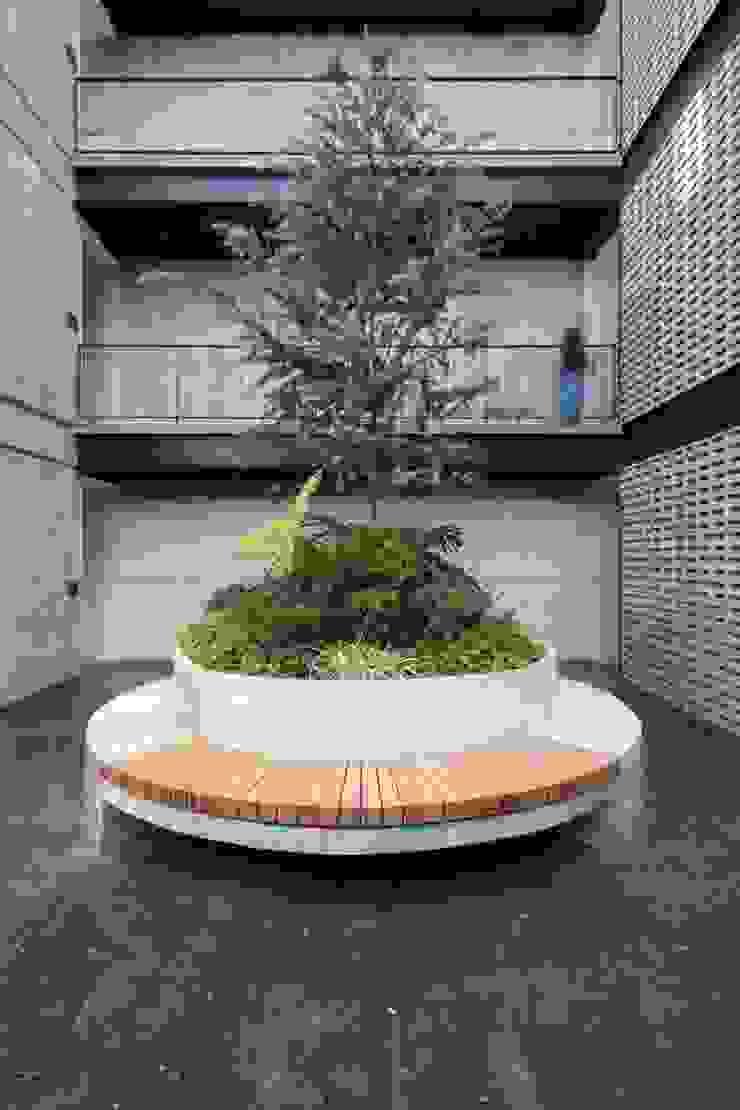 Plaza Principal Pasillos, vestíbulos y escaleras modernos de Wolff Arquitectura Moderno Piedra