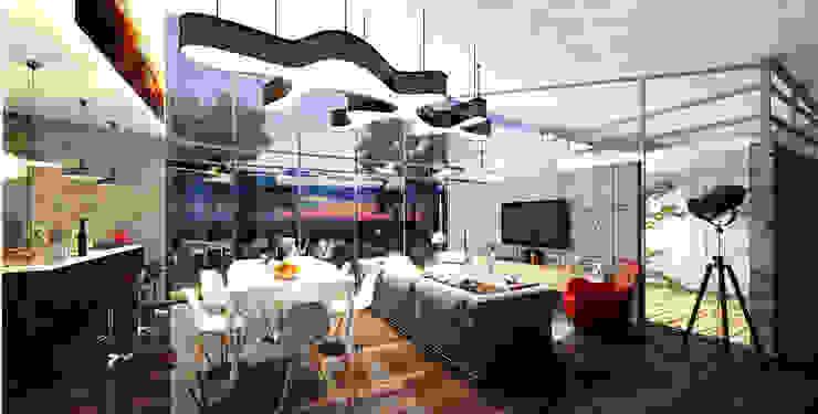 Casa Santa Elena Salas modernas de O11ceStudio Moderno