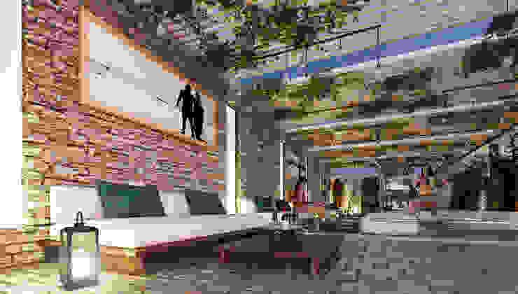 Modern Living Room by O11ceStudio Modern