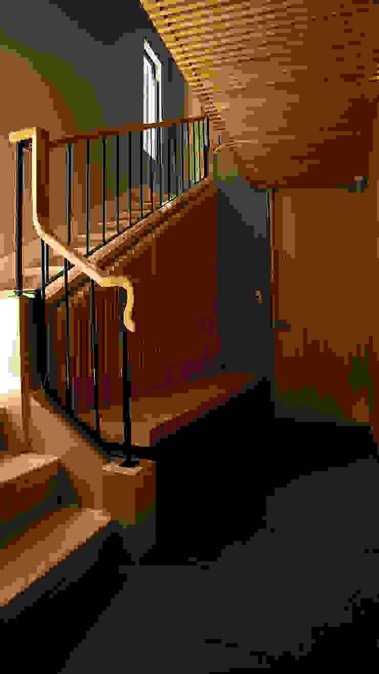 Núcleo de Circulaciones Pasillos, vestíbulos y escaleras modernos de Wolff Arquitectura Moderno