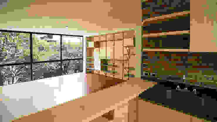 Departamento Tipo Cocinas modernas de Wolff Arquitectura Moderno Madera Acabado en madera