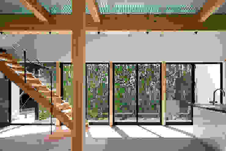 箕面の家:  井上久実設計室が手掛けたリビングです。
