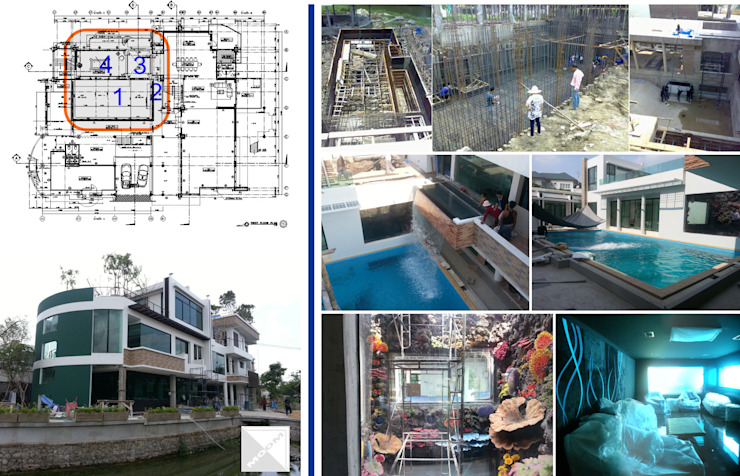 Idea - Zone น้ำ (project 55-01 บ้านคุณอดิสรณ์ โสภา) โดย คณะบุคคลมุมน้ำเงิน โมเดิร์น
