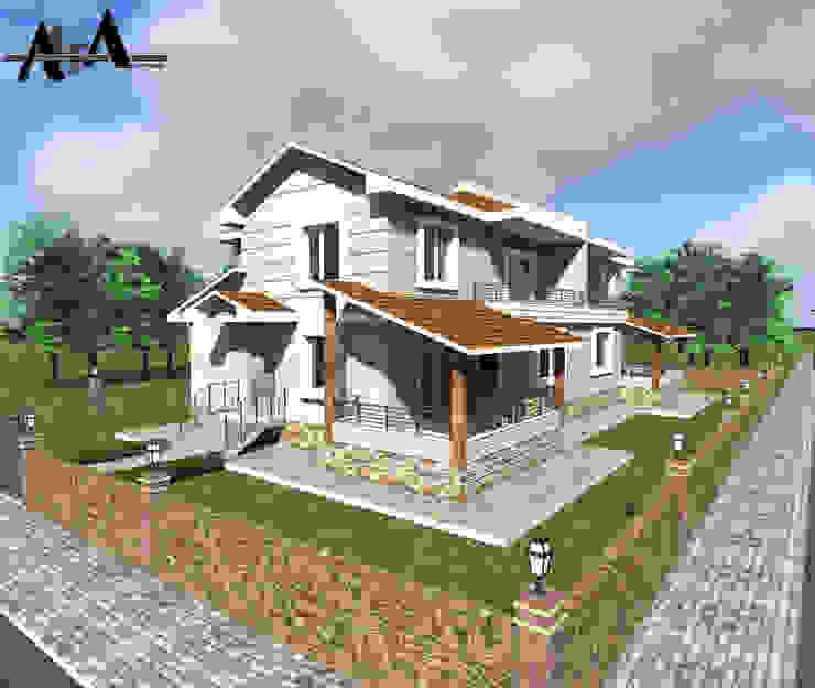 現代房屋設計點子、靈感 & 圖片 根據 alfa mimarlık 現代風