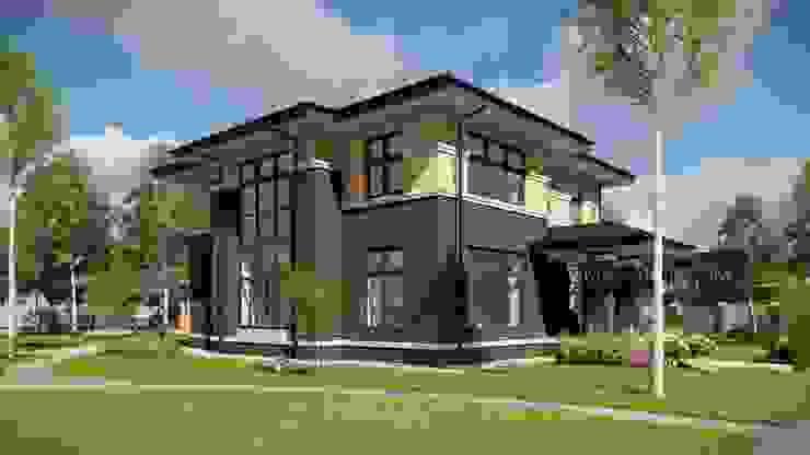 Проект загородного дома в стиле Райта: Дома в . Автор – Ильмас Хисамутдинов,
