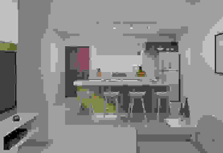 Filipe Castro Arquitetura | Design Minimalist kitchen MDF White
