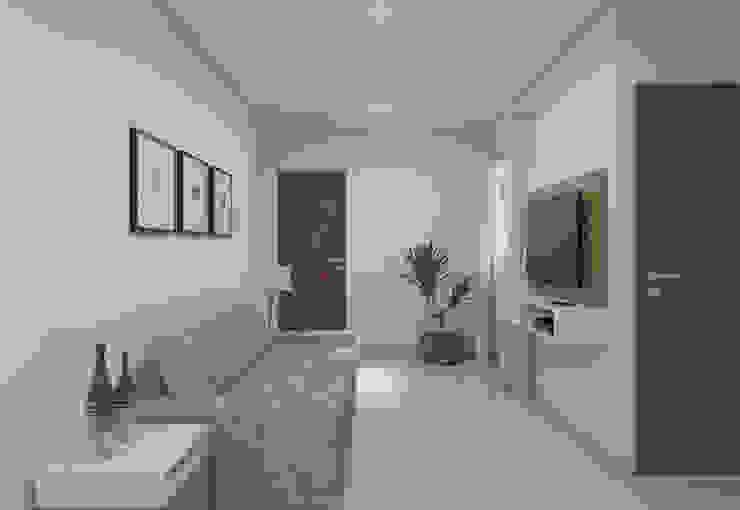 Filipe Castro Arquitetura | Design Minimalist living room Ceramic White