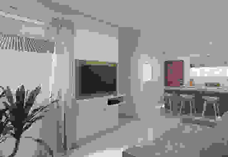 Filipe Castro Arquitetura | Design Minimalist living room MDF White
