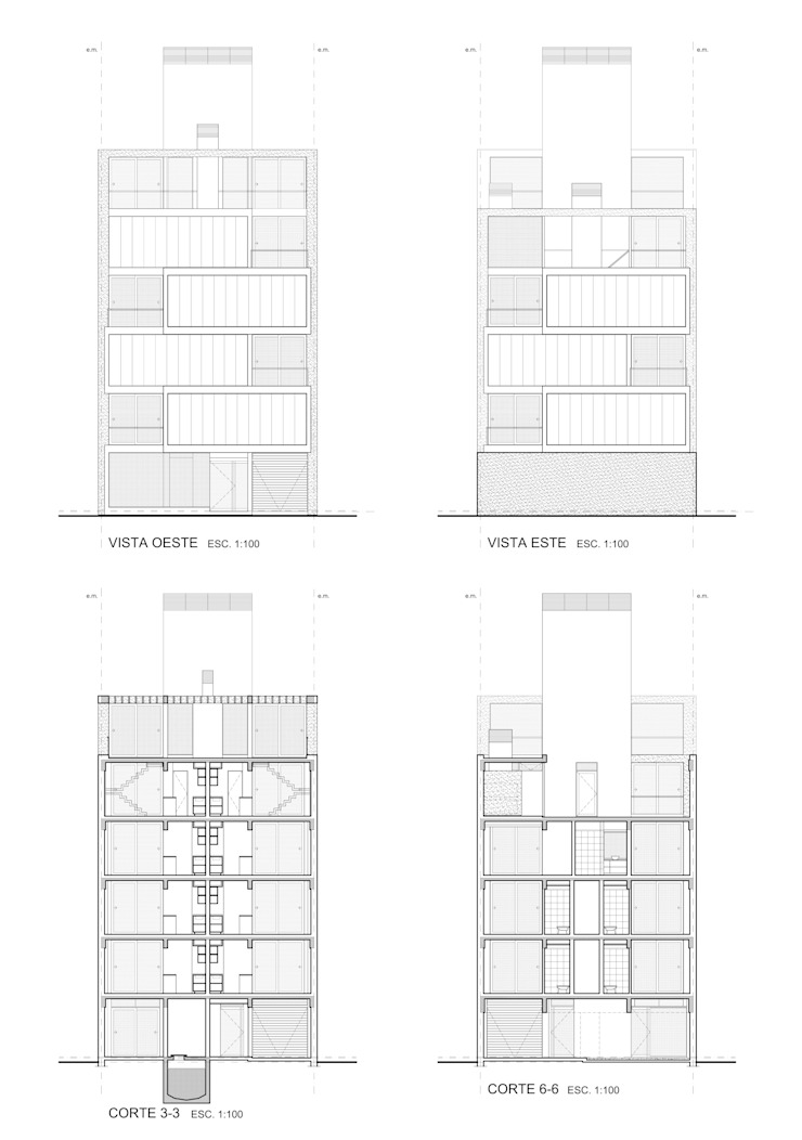 Edificio Irigoyen Casas modernas: Ideas, imágenes y decoración de Mauricio Morra Arquitectos Moderno