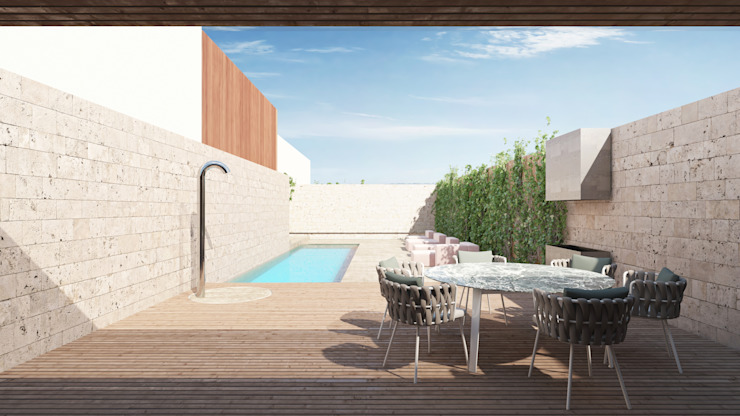 Modern Terrace by destilat Design Studio GmbH Modern