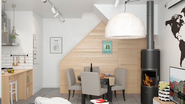 Anastasya Avvakumova Scandinavian style dining room
