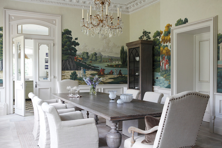 Hand painted wallpaper MN Design Dining roomAccessories & decoration
