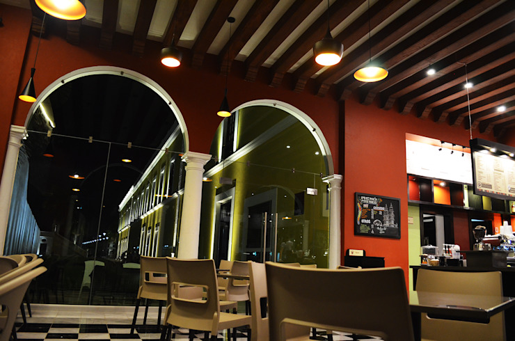 Frappisimo Biblioteca central Campeche Gastronomía de estilo colonial de Workshop, diseño y construcción Colonial