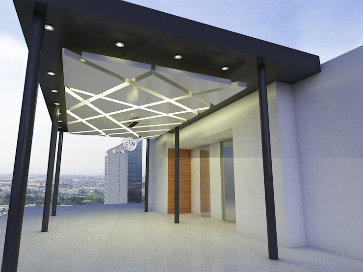 PROPUESTA FINAL Balcones y terrazas minimalistas de Element+1 taller de arquitectura Minimalista Tablero DM