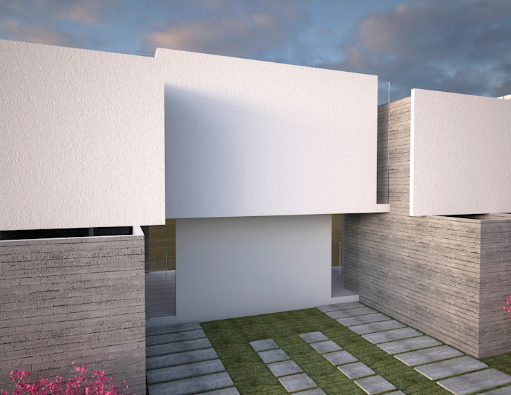 vivienda de interés social Casas minimalistas de Element+1 taller de arquitectura Minimalista Concreto