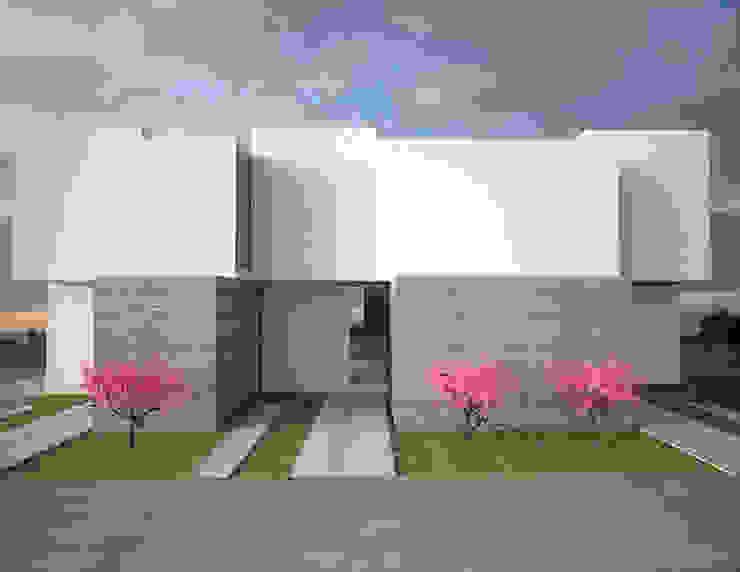 fachada principal diseño minimalista Casas minimalistas de Element+1 taller de arquitectura Minimalista Concreto