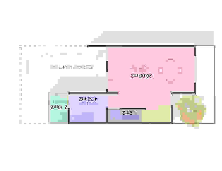 planta baja Casas minimalistas de Element+1 taller de arquitectura Minimalista Concreto