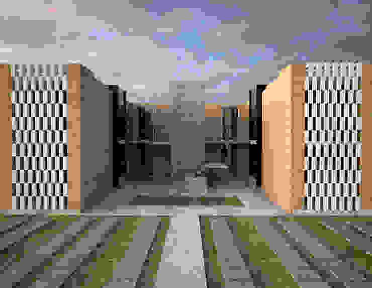 fachada principal Casas minimalistas de Element+1 taller de arquitectura Minimalista Concreto