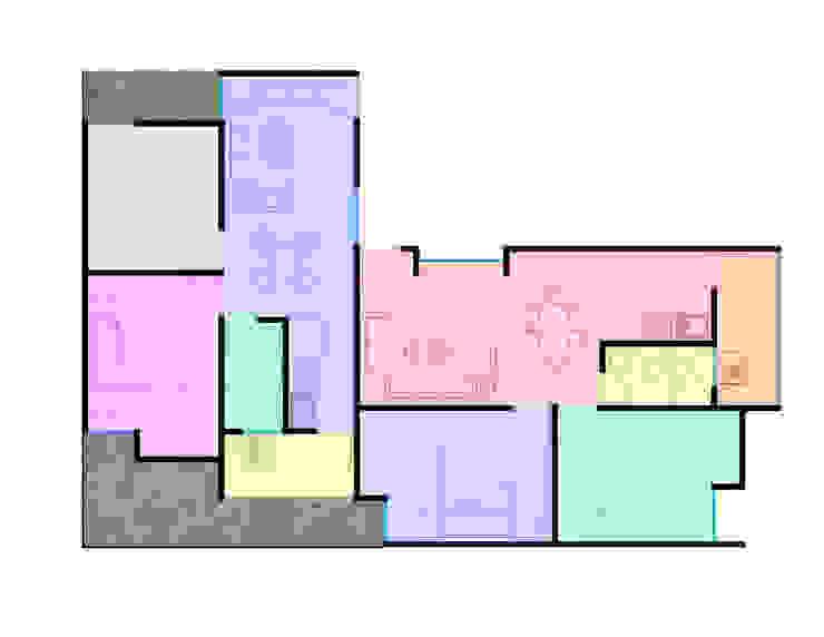 planta arquitectónica Casas minimalistas de Element+1 taller de arquitectura Minimalista Concreto