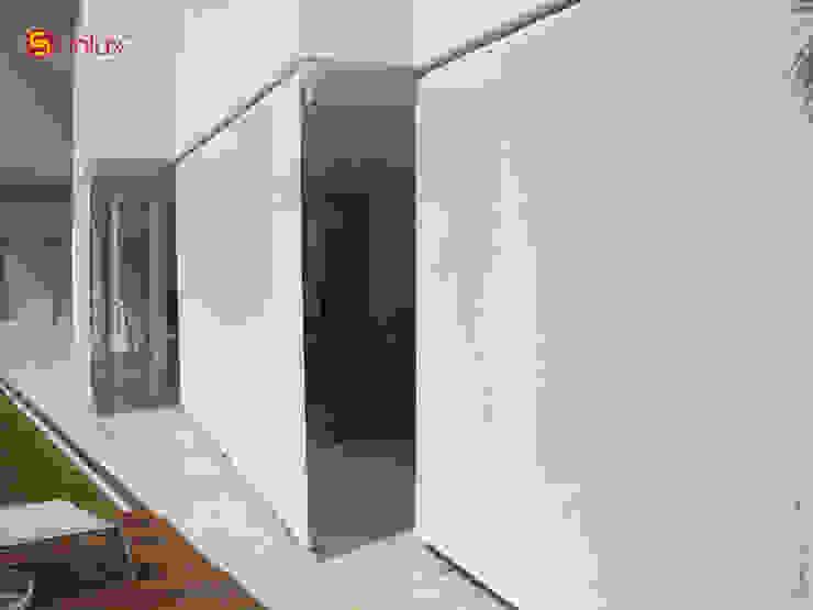 Toldo de Proyección modelo Terrace de Vertilux México Moderno Textil Ámbar/Dorado