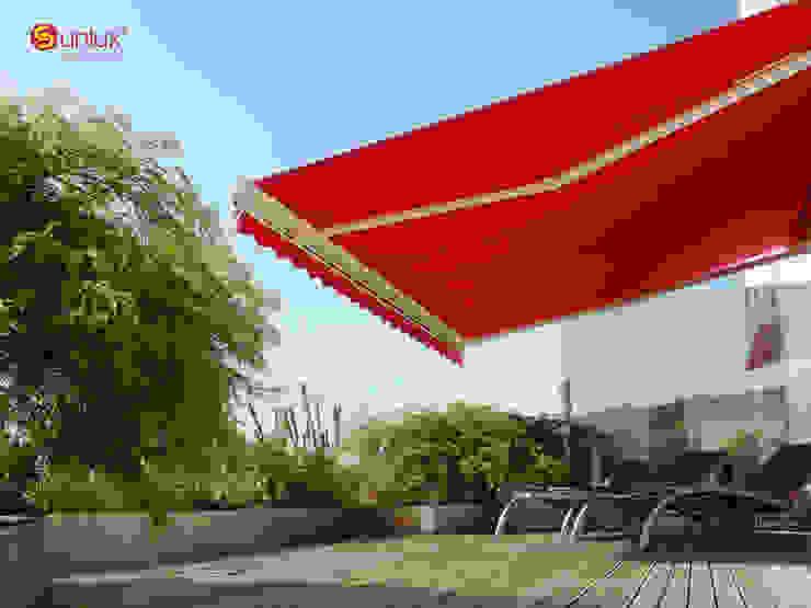 Toldo de Proyección Modelo Vinci de Vertilux México Moderno Textil Ámbar/Dorado