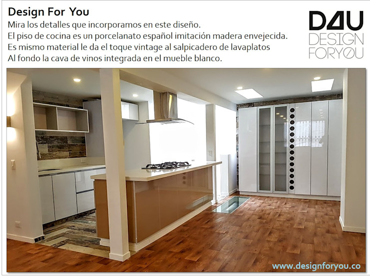 Remodelación zona social casa en Bogotá de homify