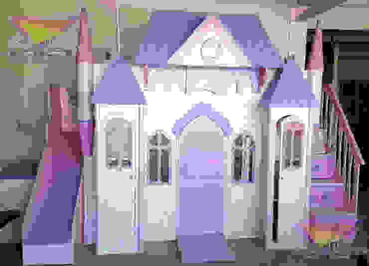Precioso castillo litera para princesas de camas y literas infantiles kids world Clásico Derivados de madera Transparente