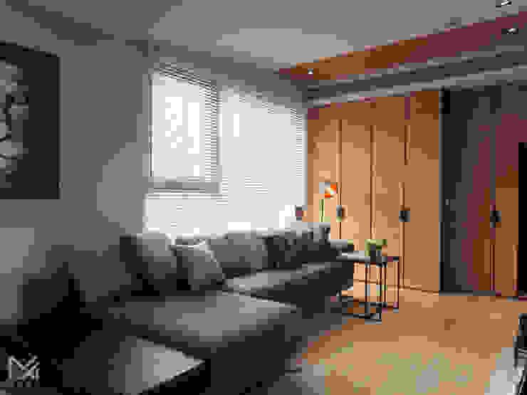 純粹、光線 现代客厅設計點子、靈感 & 圖片 根據 沐朋設計 現代風