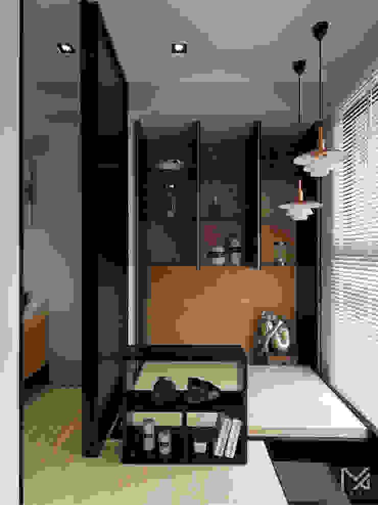 純粹、光線 現代風玄關、走廊與階梯 根據 沐朋設計 現代風