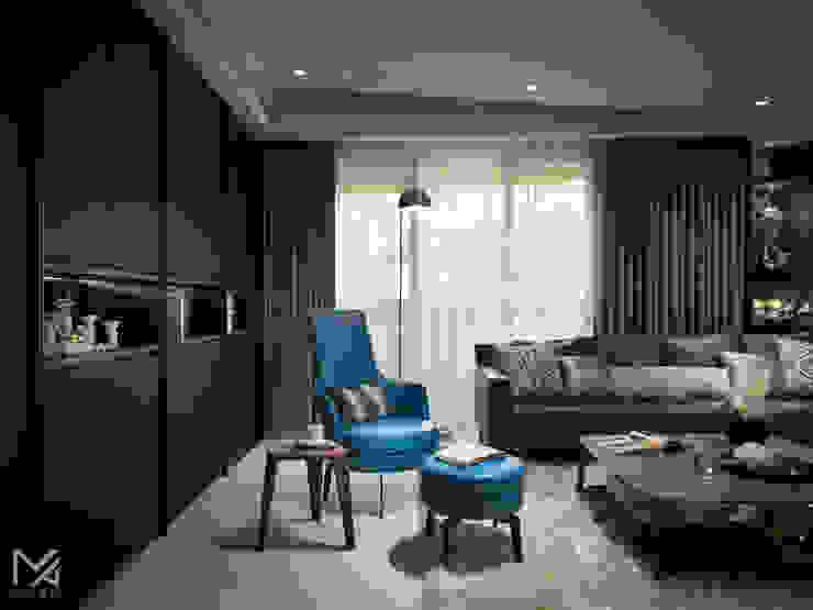 友誼之鴿 现代客厅設計點子、靈感 & 圖片 根據 沐朋設計 現代風