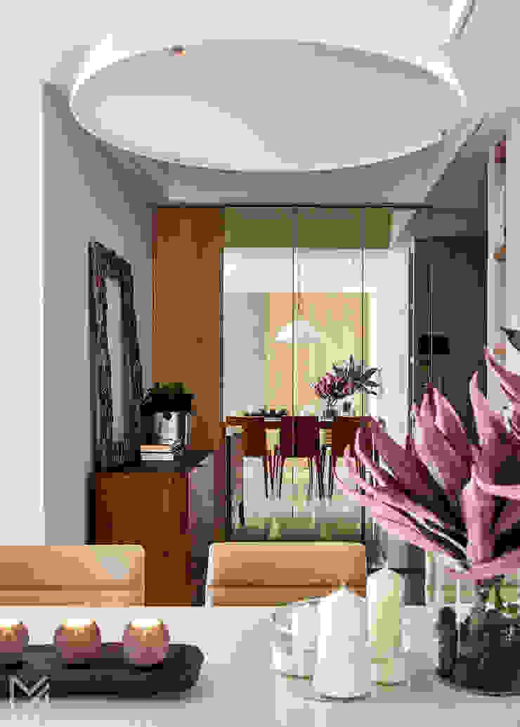 土城-董宅 現代風玄關、走廊與階梯 根據 沐朋設計 現代風