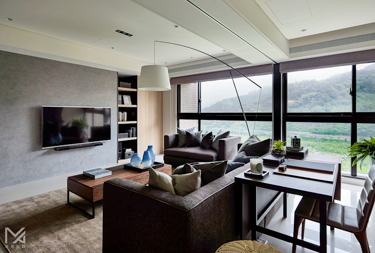 Livings de estilo moderno de 沐朋設計 Moderno