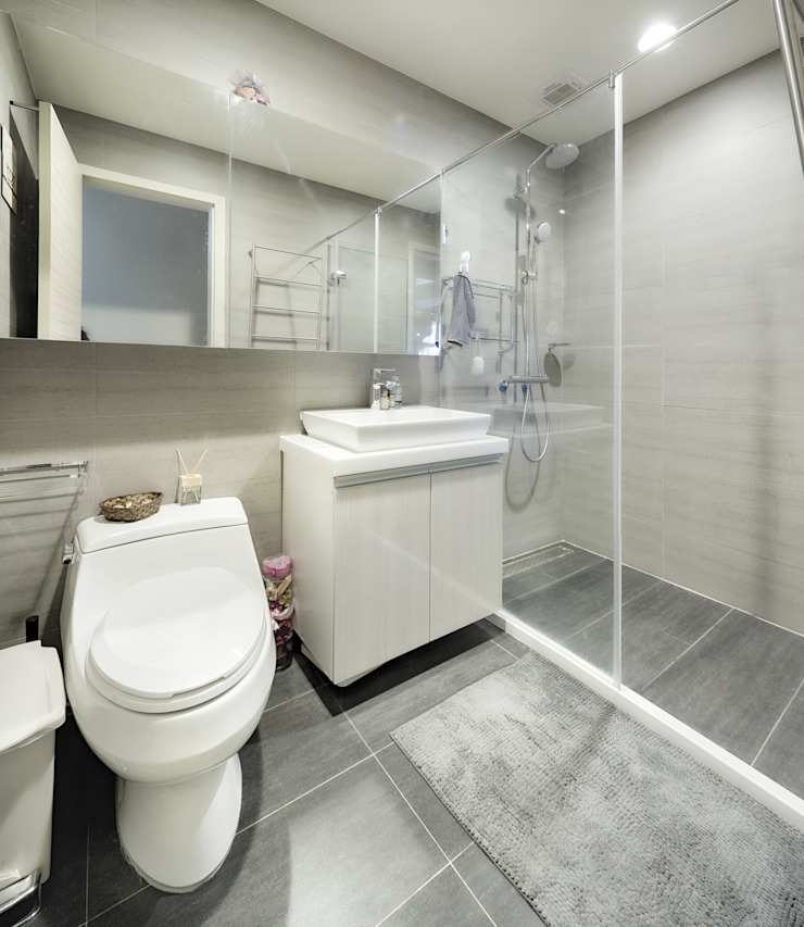 唯創空間設計公司 Scandinavian style bathroom