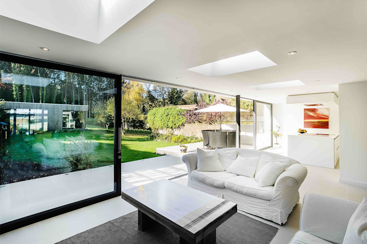 The Beckett House Modern living room by Adam Knibb Architects Modern