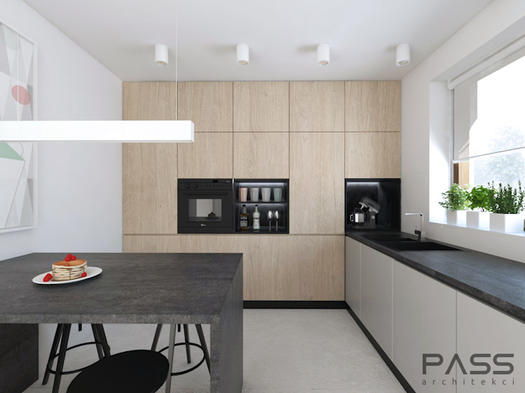 Modern style kitchen by PASS architekci Modern Wood Wood effect