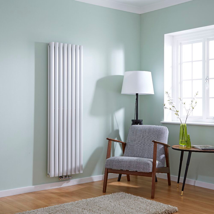 Milano Aruba 'Flow' - Middle Connection Radiator BestHeating UK 家居用品大型家電 鐵/鋼 White
