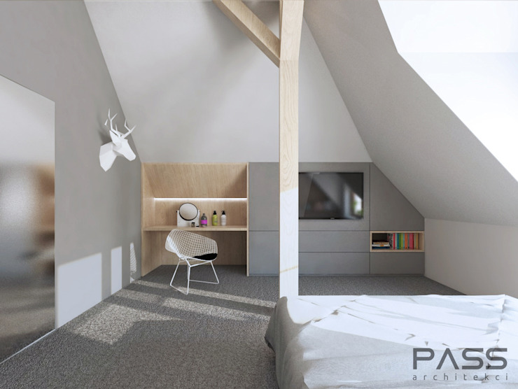 Modern style bedroom by PASS architekci Modern