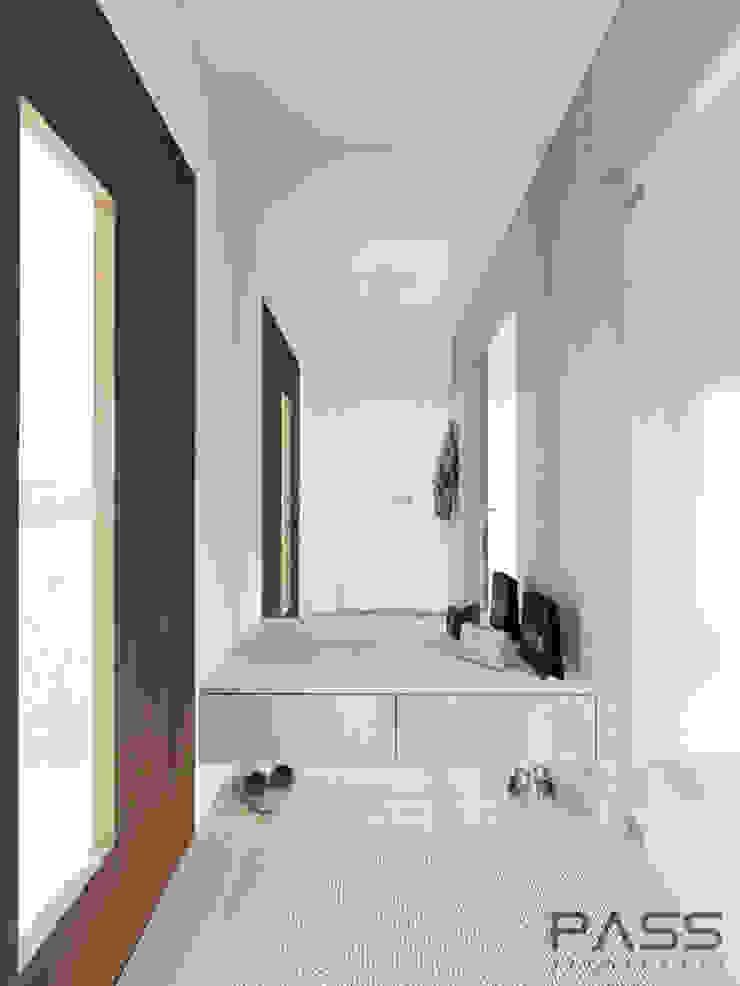 Modern corridor, hallway & stairs by PASS architekci Modern