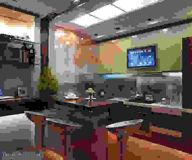 Asian style kitchen by Студия интерьера Дениса Серова Asian